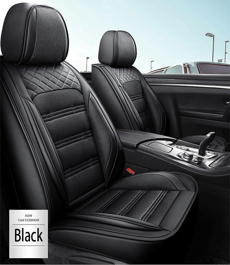 Universal Fit Car Interior Accessories Seat Covers For Sedan PU Leather Adjuatable Five Seats Full Surround Design Seat Cover For SUV BM005