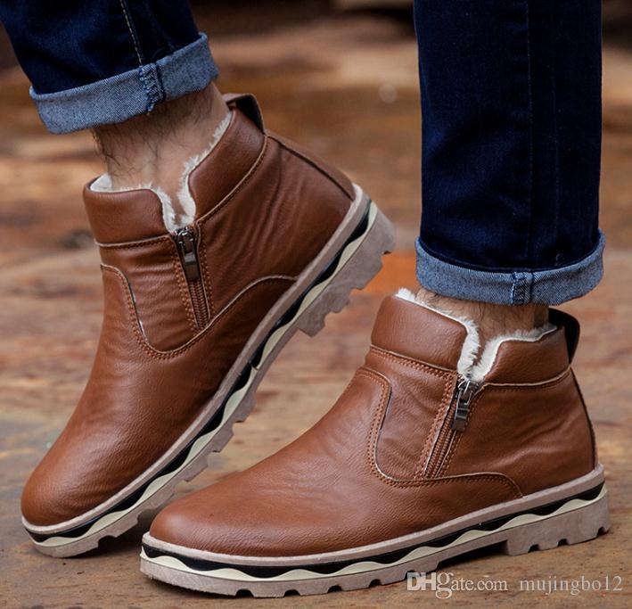 Kış kaymaz sıcak yün öğrenci pamuk ayakkabıları erkek ayakkabıları patlama koyun kürk bir kar botları erkek gençlik