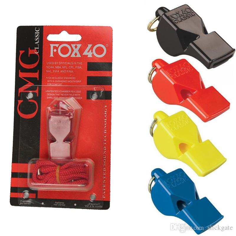 FOX 40 Official Referee Classic Whistle Utility Football Soccer Basketball Sport Whistle Fox 40 Whistles Accessories EDC Gear M64R