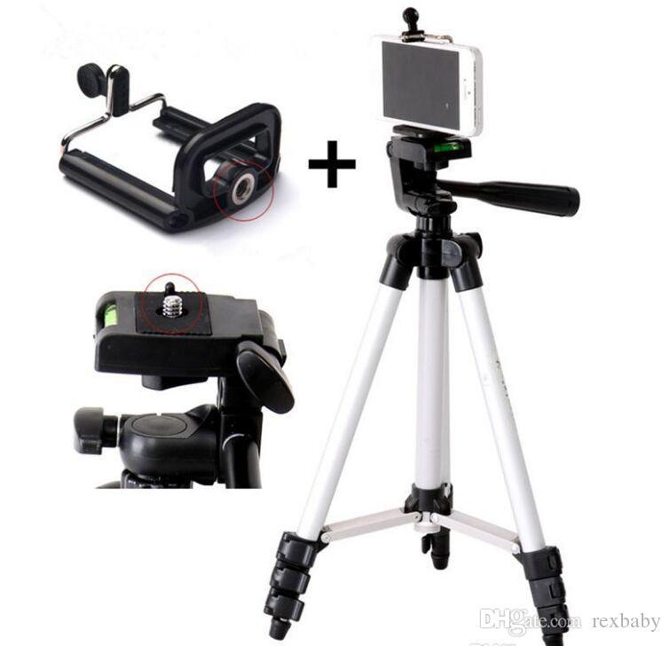 المحمولة ترايبود 4 أقسام ترايبود + حامل الهاتف للهواتف الذكية الهاتف المحمول كانون سوني نيكون كاميرا مدمجة شحن مجاني
