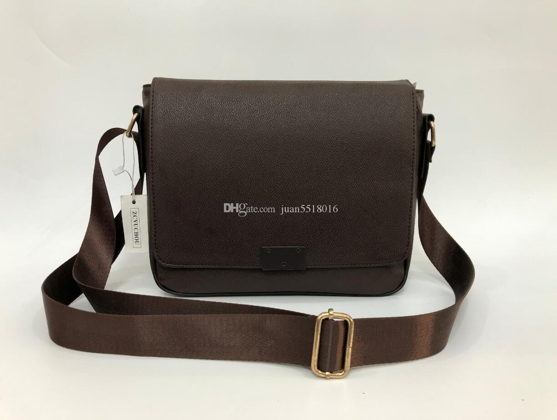 2019 new Classic fashion men messenger bags cross body bag school bookbag should 41213 with dust bag