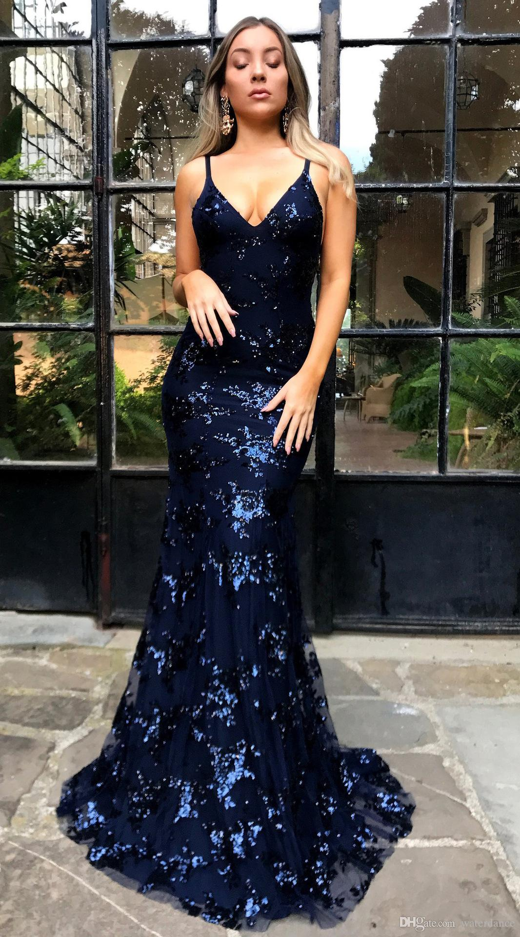 New sexy V-neck sling sequin dress dress lace floor long skirt hollow backless &#76uxury Designer and long skirt nightclub party beautiful
