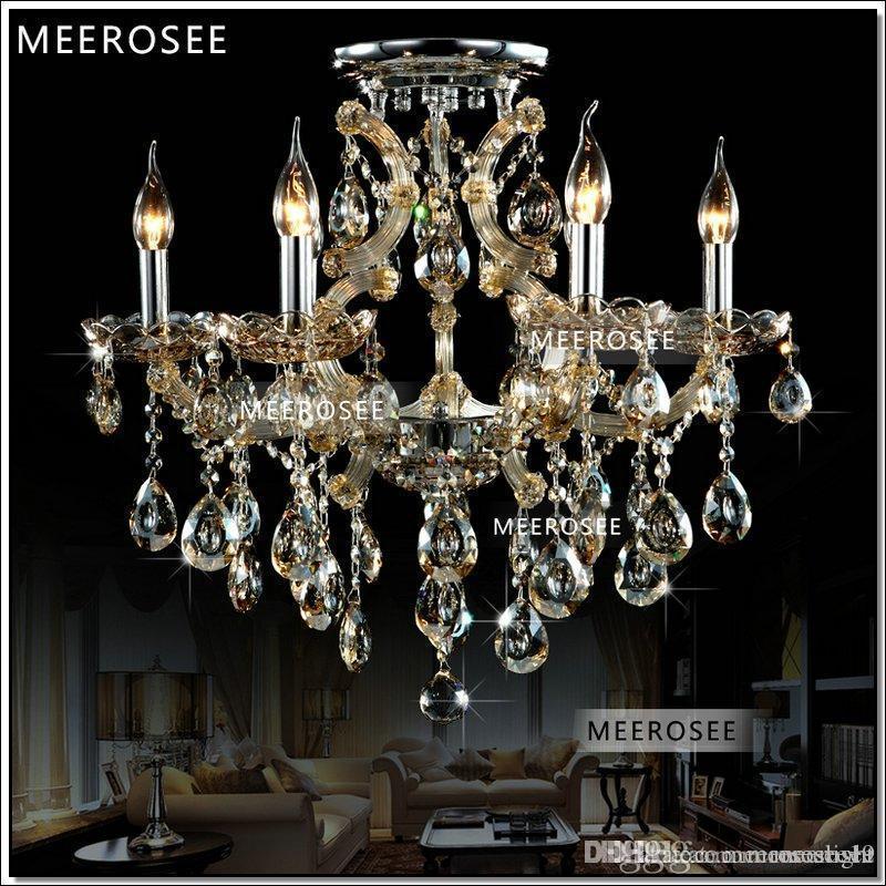 Cognac 6 Lumières Salon lampadario Lustre Lampe suspendue MD8477C moderne lustre Chrystal D620mm H550mm Garantie 100%