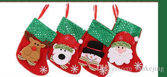 sac cadeau chaussettes de dessin animé pendentif Noël ornement sac cadeau