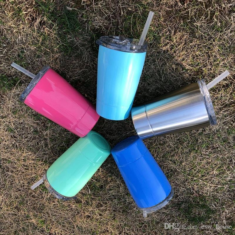 12oz kids Cup with Lids Straws Stainless Steel Insulated Mugs for Kids Students Double Layer Thermos Insulated Water Cups