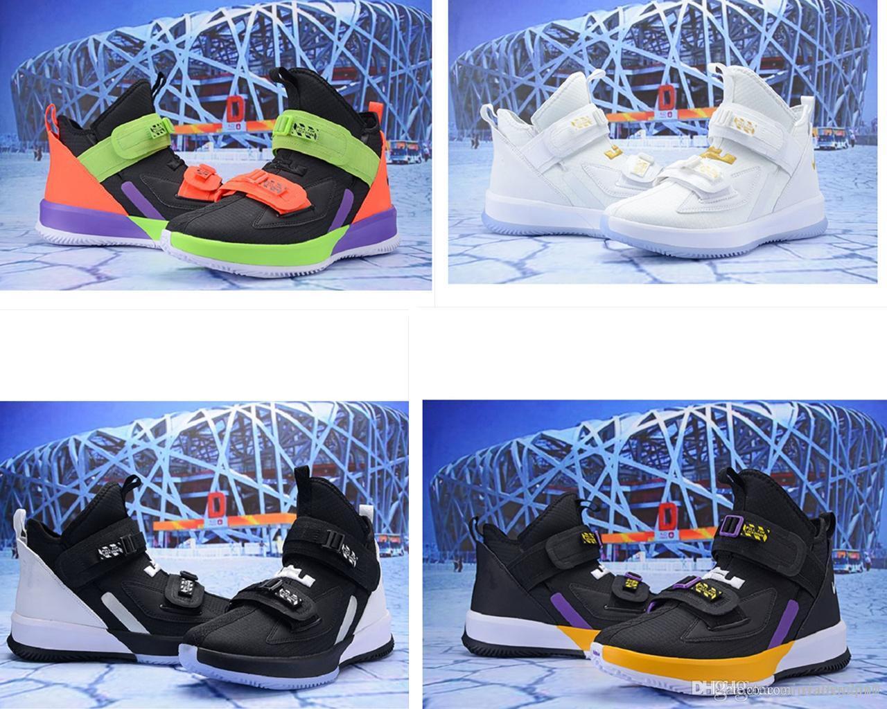 Что Леброн солдат 13 Мужские баскетбольные кроссовки на продажу Лебронс XIIIi Рождество BHM Oreo молодежные детские кроссовки сапоги с оригинальной коробке