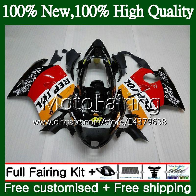 Обтекатель кузова для HONDA Blackbird Repsol оранжевый CBR1100XX 96 97 98 99 00 01 53MF4 CBR1100 XX CBR 1100XX 1996 1997 1998 1999 2000 2001