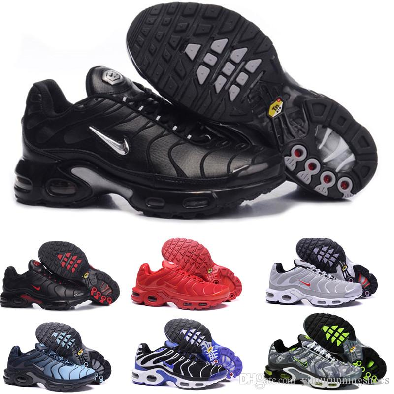 TN Plus Running Shoes For Men Women Designer Sneakers Olive In Metallic White Silver Colorways Shoes Male Shoe Pack Triple Black Mens Shoes