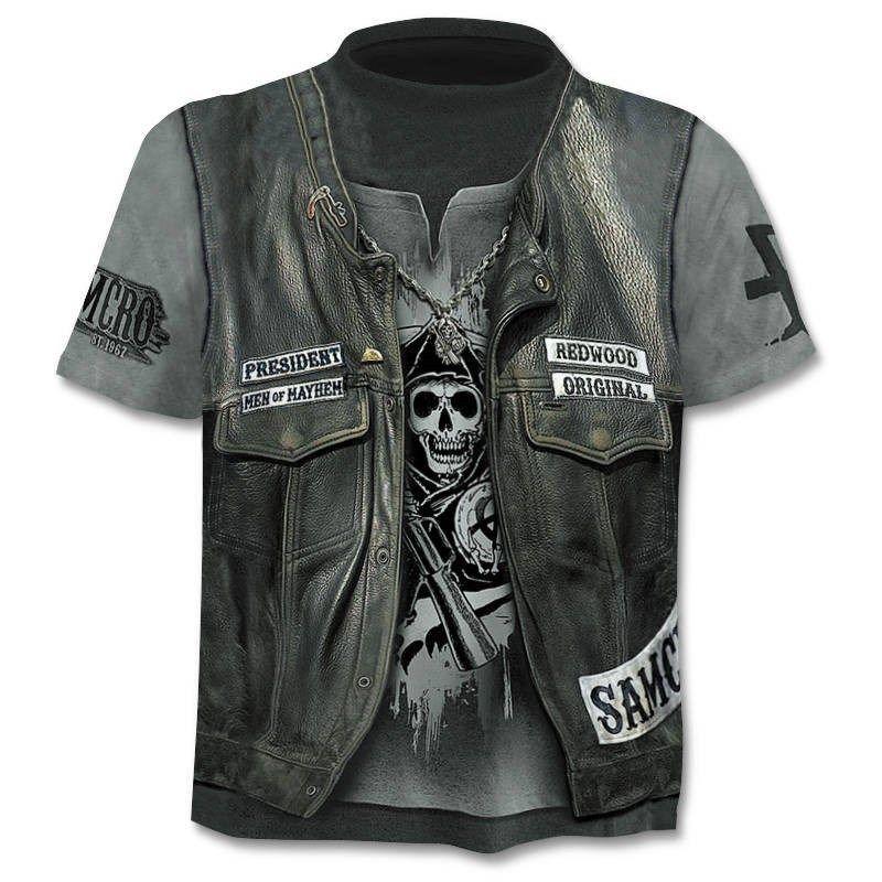 Drop Ship été NewFunny crâne 3D T-shirt d'été Hipster à manches courtes Tops hommes / femmes Anime T-shirts Homme court de tops de