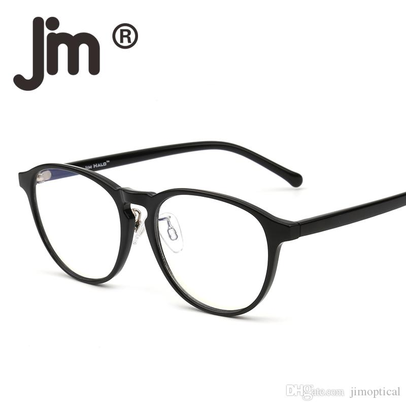 Blue Light Blocking Round Reading Glasses, Reduce Eye Strain Anti Glare Clear Lens Video Rectangle Eyeglasses Men Women