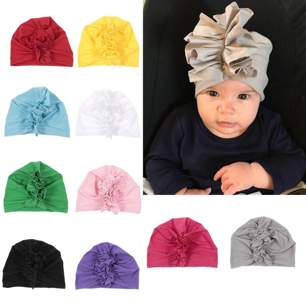 niños accesorios para el cabello accesorios para el cabello de los bebés del sombrero bufanda principal Cockscomb sombrero bebé recién nacido Flor apoyo de la foto