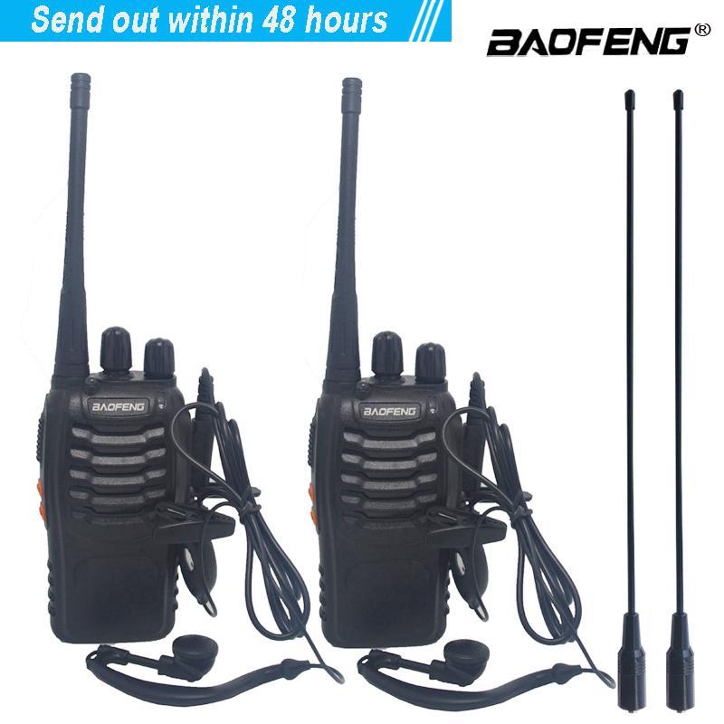 2 قطعة / الوحدة baofeng BF-888S WALLIE Talkie الراديو ذو اتجاهين مجموعة BF 888S UHF 400-470 ميجا هرتز 16ch Interphone المحمولة المحمول الإرسال والاستقبال