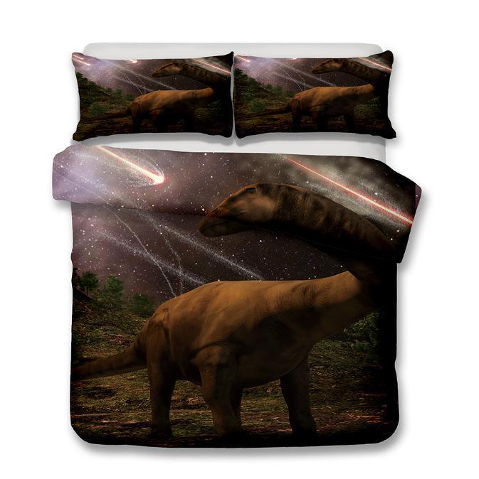 Hot 3pcs / set padrão do dinossauro Impresso 3D Home Thicken cama Set fronha capa de edredão Define feita Decoração New cama dos desenhos animados personalizado