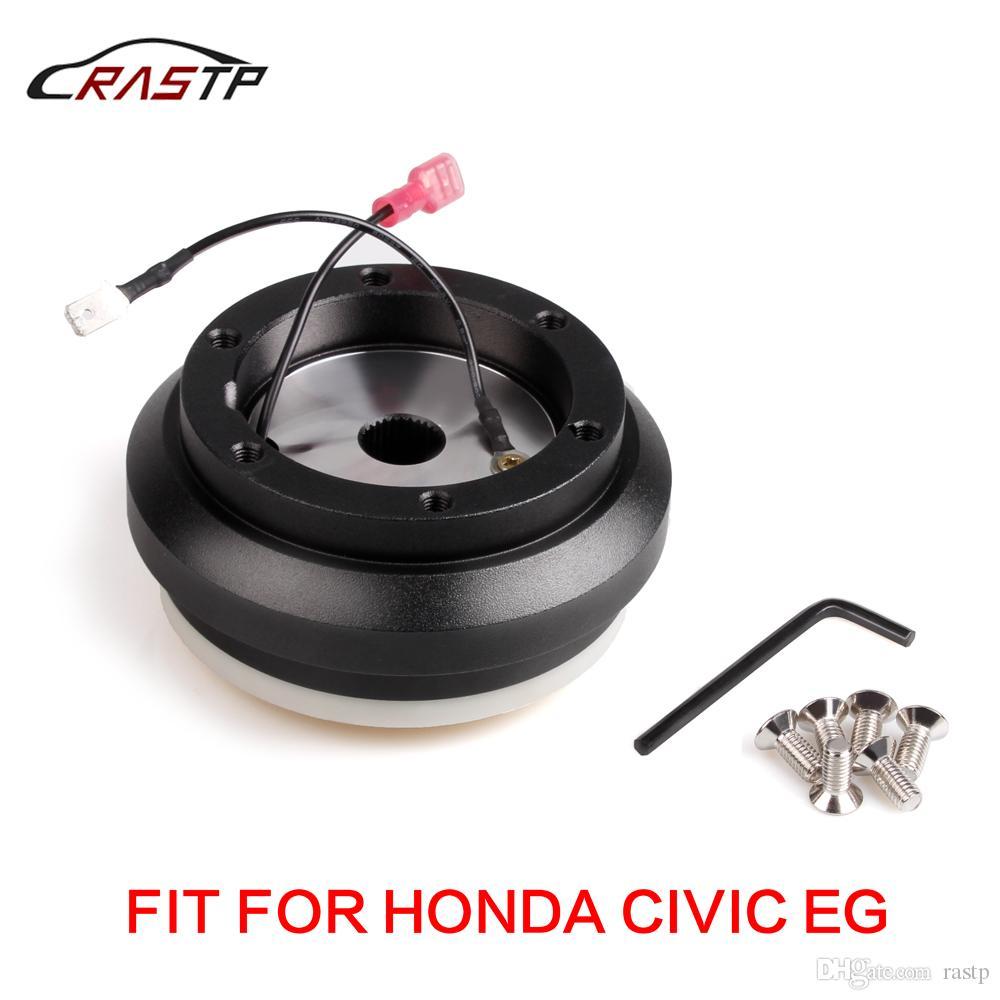 RASTP de alta calidad Negro de aluminio de carreras de dirección adaptador del cubo de rueda con 6 Agujero del kit del jefe para Honda Civic EG RS-QR010-EG