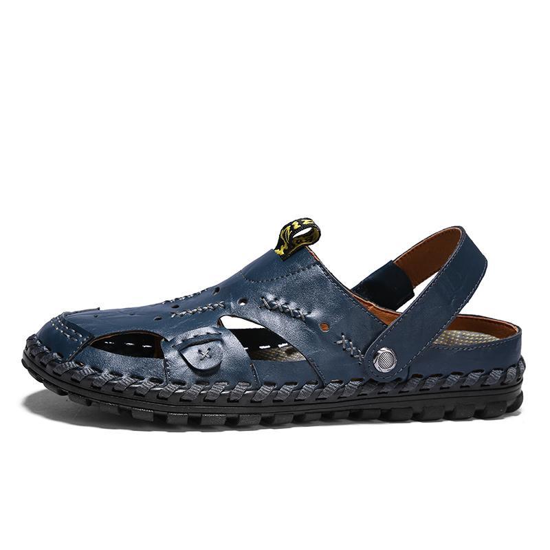 Nefes Deri Ayakkabı Erkek Yaz Krasovki Tenis Masculino Debardeur Homme Yetişkin Zapatillas 15D50 için Sandalet