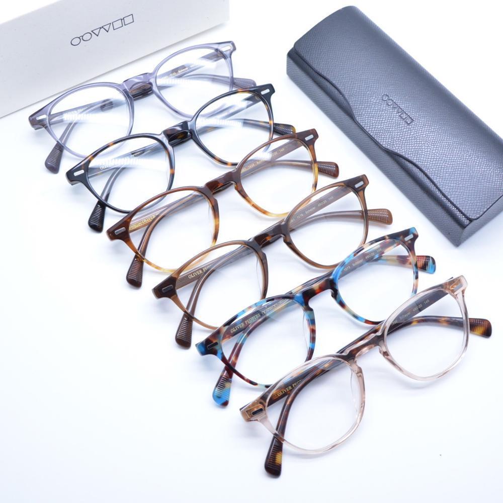 ov5361 acetato color tartaruga occhiali poligonali prescrizione Vintage ottica popoli occhiali