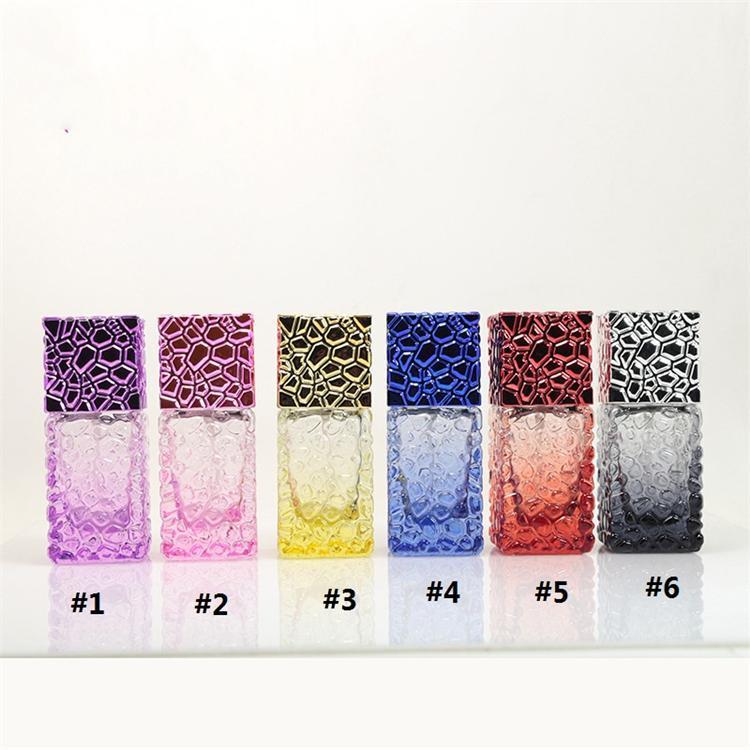 vorzüglich 25ml cubic Parfümflasche Farbe bewegliches Spielraum spray Parfümflaschenglas 6 Farbe kosmetische Flasche T3I5536