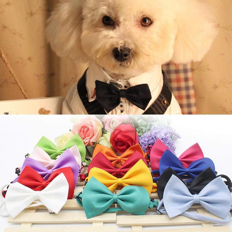 Bow Moda Pet Dog laço ajustável do pescoço do animal de estimação Laço Collar bonito Cat Dog Decoração de Natal Tie Dog Pet Supply Acessório Atacado VT0398
