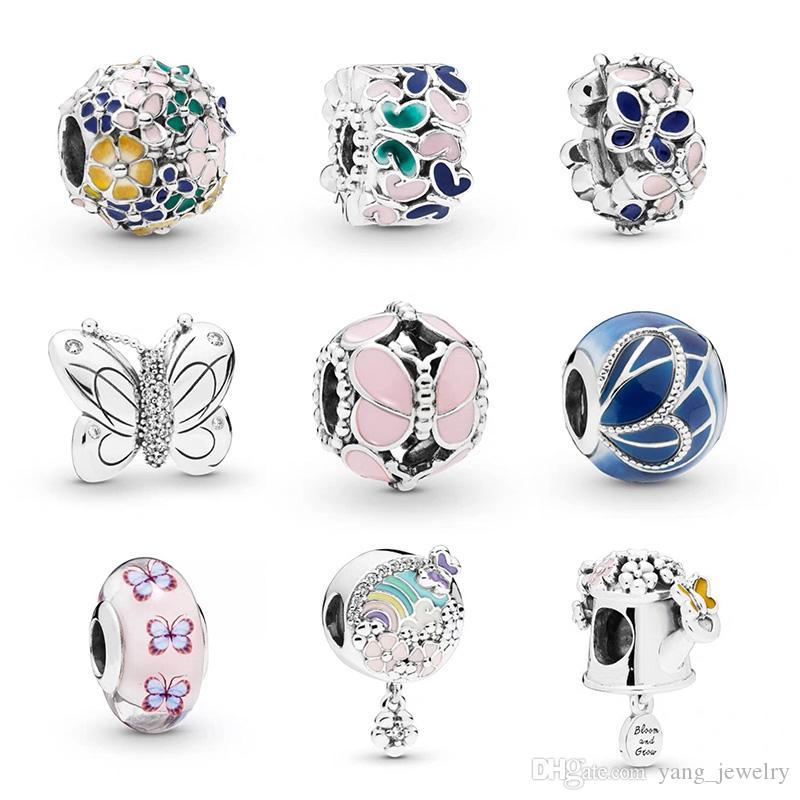 Monili d'argento Nuovo originale placcato lega Bead Famiglia Mother Love pendente del cuore di fascino misura Pandora braccialetto della collana fai da te donne