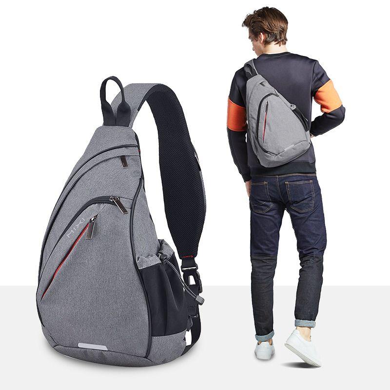 Микси мужчин одно плечо рюкзак Женщины Sling сумка USB мальчиков Велоспорт Спорт Путешествия Универсальный моды сумка Студент университета школа