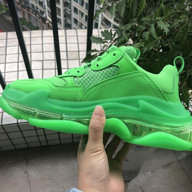 كلير وايت الثلاثي-S حذاء رياضة أخضر فاتح الثلاثي S أحذية أبي عارضة للمرأة الفلورية الخضراء Ceahp الرياضة مصمم أحذية رجالية الحجم 36-45