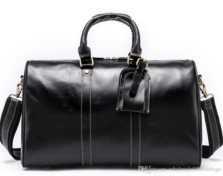 En kaliteli yeni kadın Büyük hakiki oksitleyici Deri bagaj seyahat bayan çanta çantası çanta designl08