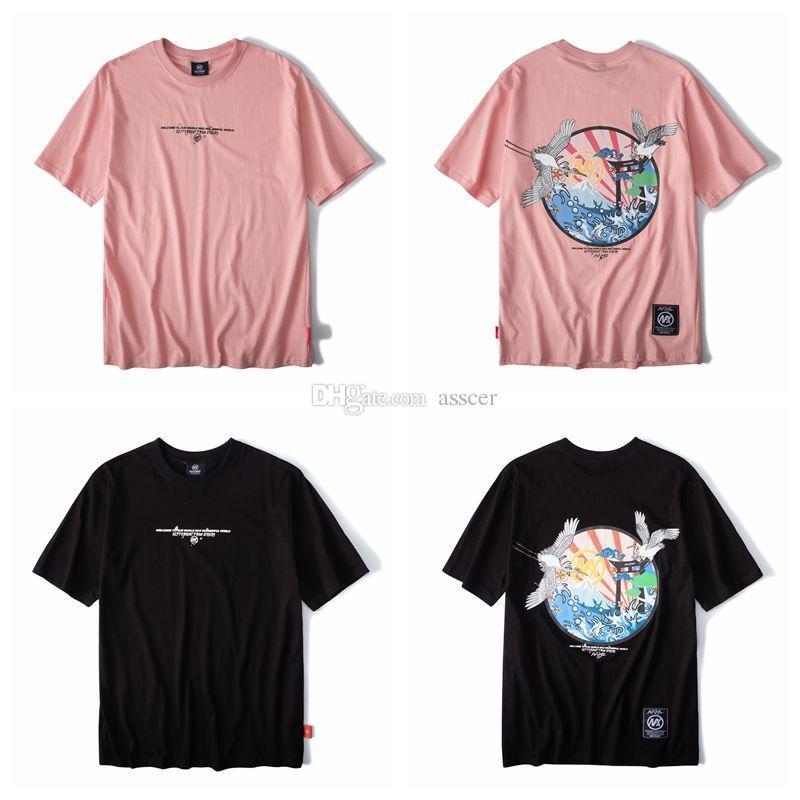 Nuovo stile di modo maglietta casuale maniche corte di alta qualità di Hip Hop Donne Uomini Tees