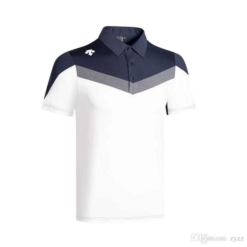 2021 2020 New Summer DESCENTE Golf Apparel Mens Golf T ...