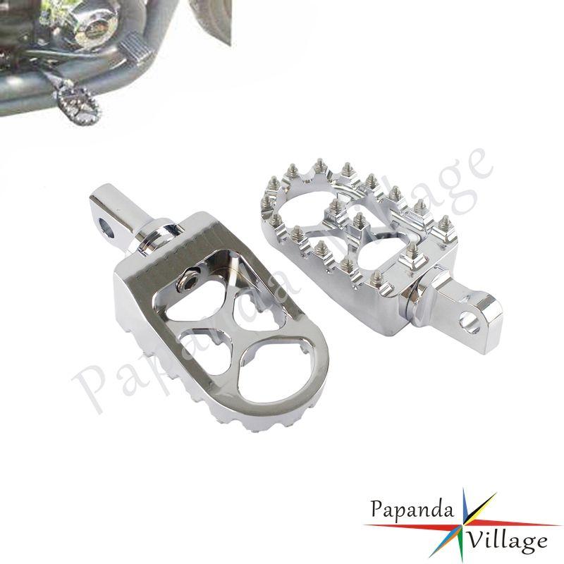 Di alluminio di CNC Motorcycle Rotating Stile poggiapiedi Pedane Per 883 Dyna Fat Bob Via FXD / FXR maschio Mount