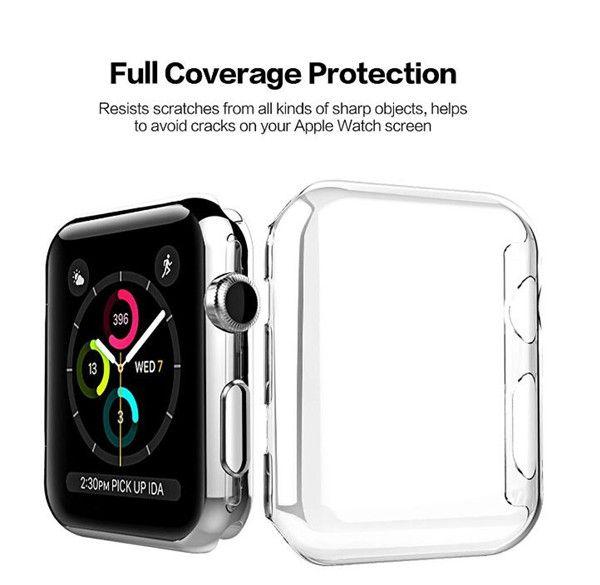 لـ Iwatch 4 حالة ثلاثي الأبعاد Touch Ultra Clear Soft Tpu Cover Bumper Apple Watch Series 4 3 2 Screen Protect 38mm 42m 40mm 44m for Apple Watch 4