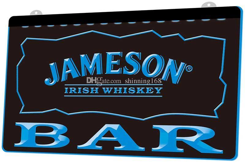 2020 LS779 B BAR Jameson Irish Whiskey Neon Light Sign.Jpg