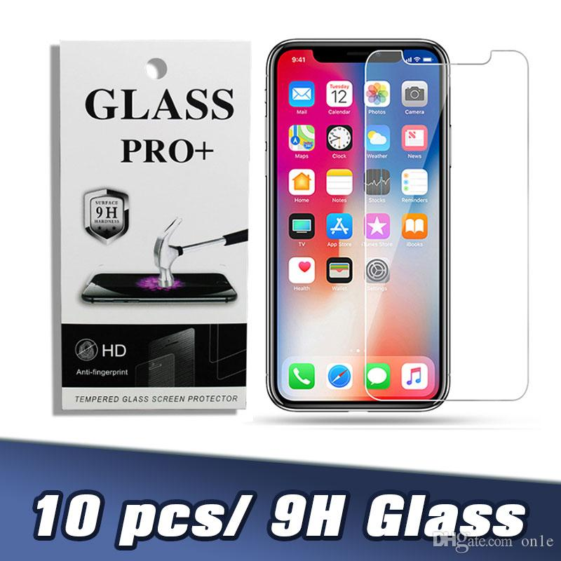 Vidro temperado 0,26 milímetros 9H protetor de tela para Iphone 11 Pro MAX XR XS X Samsung A20 A10Eall telefone inteligente