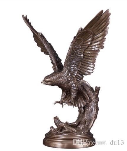 الحرف ARTS تحقيق واحد التماثيل تمثال طموح النسر الصقر خمر هوك مع الرخام قاعدة النسر تمثال عطلة التماثيل CZW-079