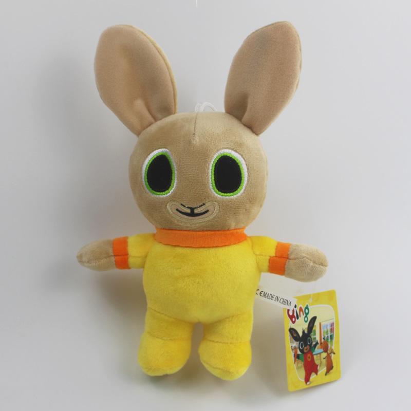 Bing Bunny peluche Ciondolo clip portachiavi Bing Bunny Toy Doll Hoppity Voosh farcito di Pando coniglio giocattolo per i regali di Natale