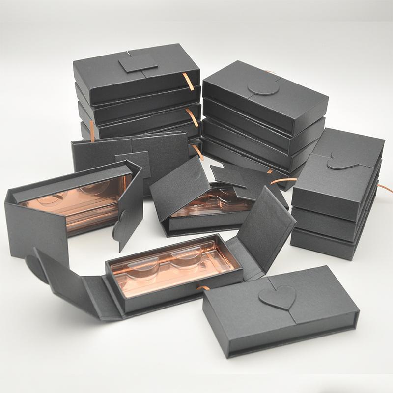 Kundenspezifisches Großhandelswimpern Verpackung Box mit Namensschild Lash Boxes Verpackung Faux Mink Lashes Streifen Leeren Fall Groß
