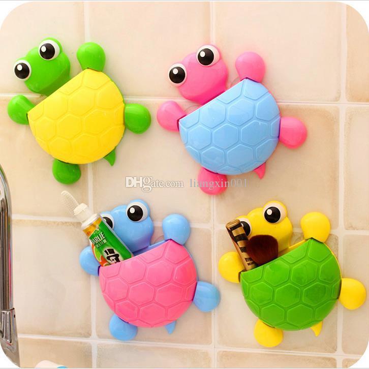 Fumetto Sucker Cucina Bagno Portaspazzolino supporto a parete aspirazione Hook supporto del toothbrush bagno Home Decor For Kids Accessori