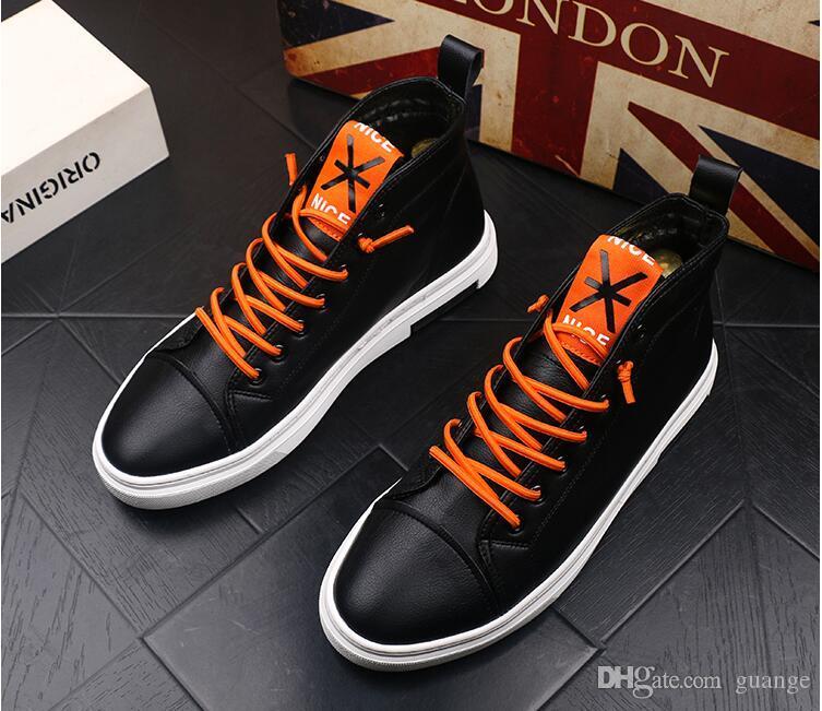 Ventas calientes Zapatillas de deporte Zapato con cordones mocasines Zapatillas de deporte para hombre Pisos con zapatos al aire libre Zapatos de fiesta Mocasines para hombre zapatos altos Z307