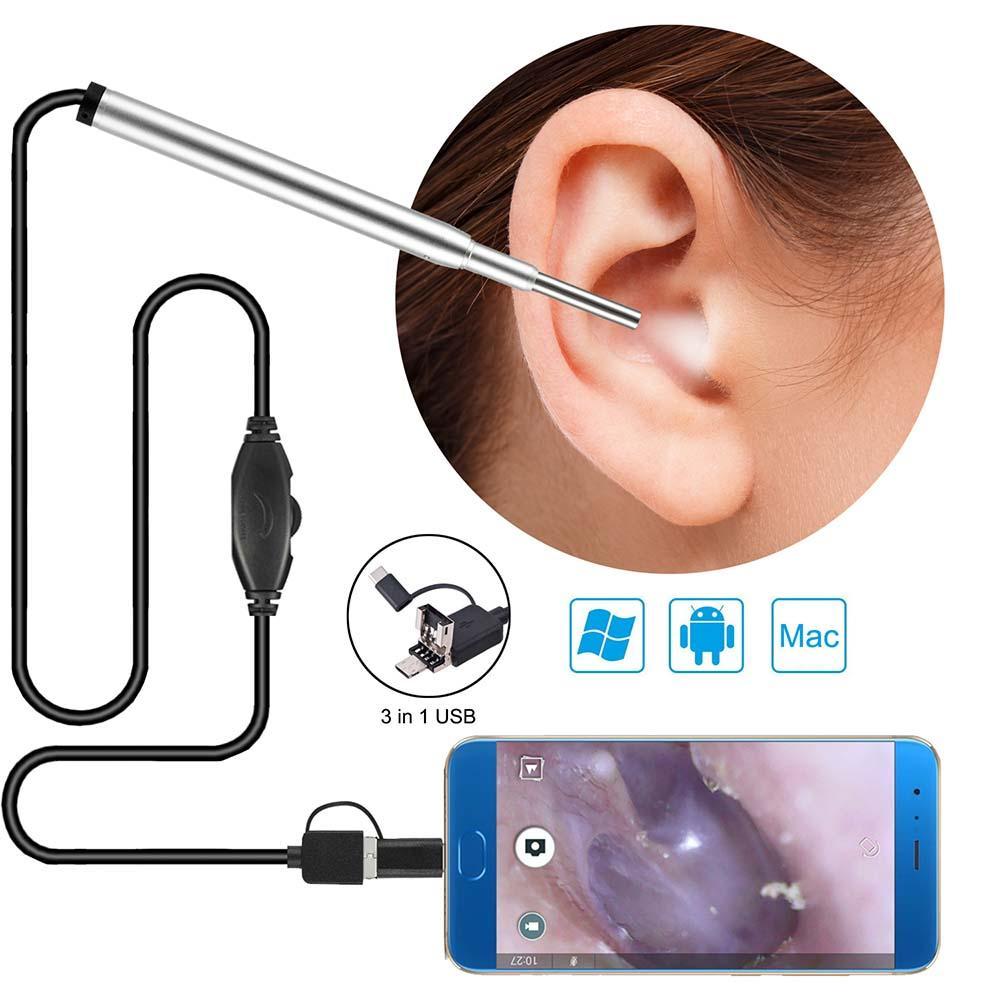 3 in 1 Endoskop für Android Typ C USB 3,9 mm Objektiv HD wasserdicht Endoskop