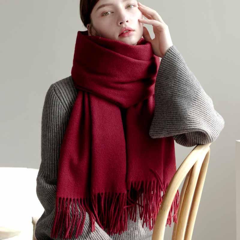 VIANOSI 100% lana donne sciarpa inverno dello scialle spessore caldo delle sciarpe delle donne Capo di marca di lusso Foulard Cachecol Scarfe per le signore VA226