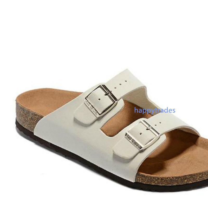 Hot Sale-Sandelholz-Frauen-beiläufige Schuh-Doppelschnalle Famous Brand Arizona Sommer-Strand-Top-Qualität Echtes Leder Pantoffel mit Orignal Box