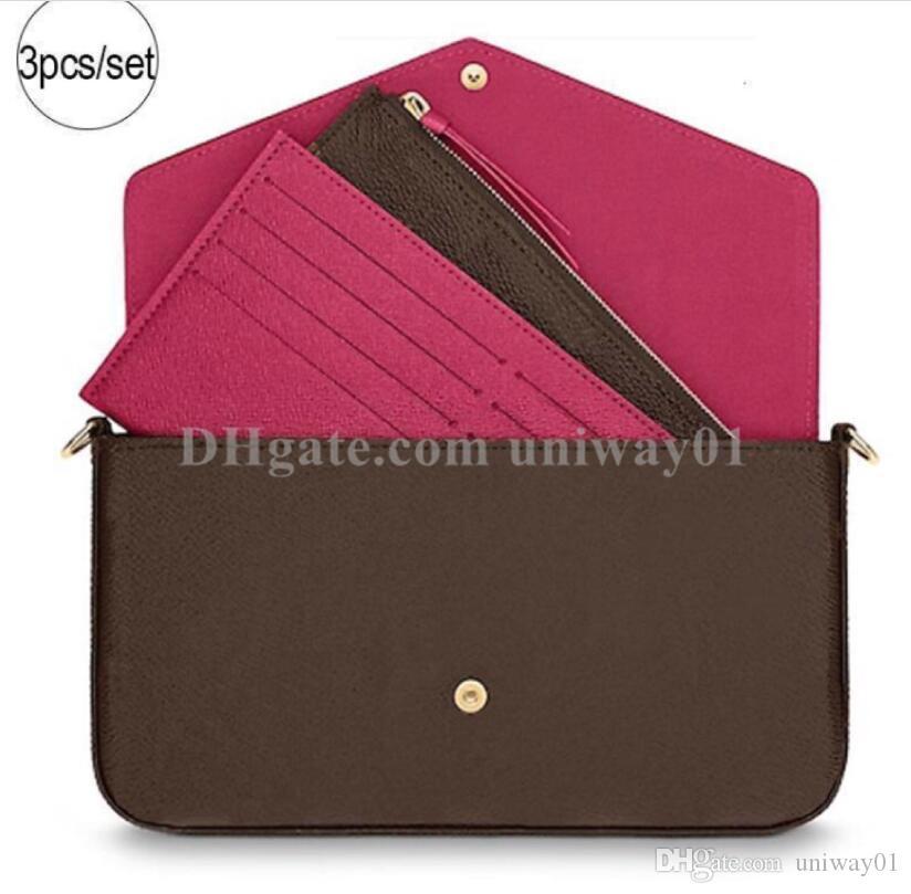 جودة عالية ! best women shoulder bag original box power handbag أصلي جلد العلامة التجارية المصمم