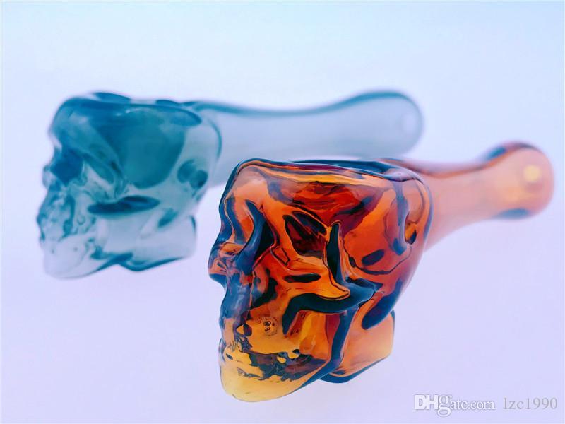 Neue Ankunft Mini Griff Glasrohr Raucher Rohrlöffel Bubbler Hybrid Spill Beweis Raucher Bong Freies Verschiffen