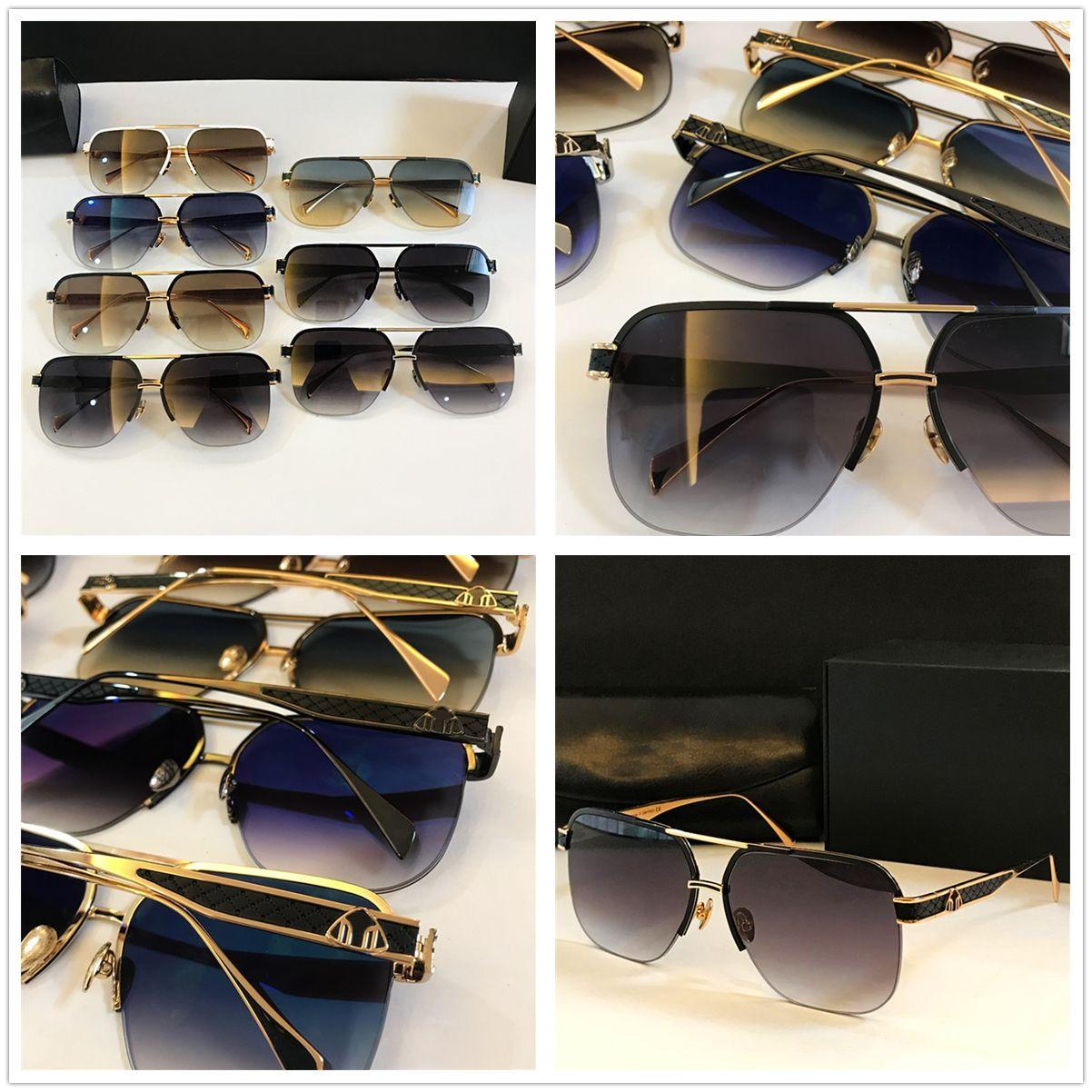 2020 Nuovo Trendy Classic Mens Fashion Brand Sunglass Designer di lusso Occhiali da sole Square Driving Eyewear Anti Refelction Brand Sunglass De Atur