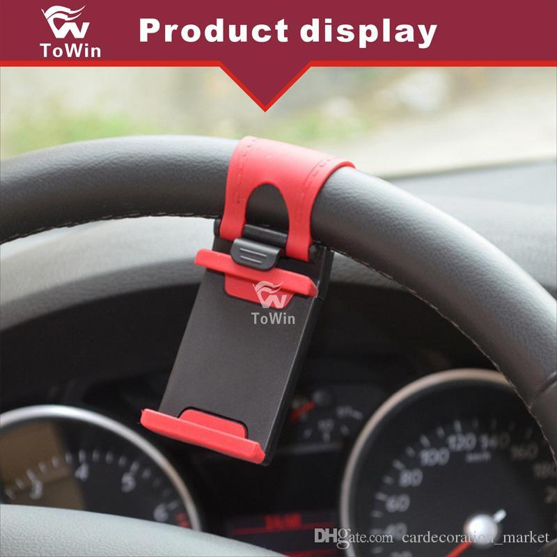 عجلة قيادة السيارة - حامل الهاتف الذكي - GPS Navigator - قوس