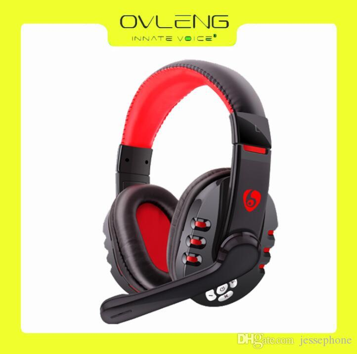 OVLENG V8-1 Bass Bluetooth Headset, Wireless Headphone, Over-Ear Bluetooth Auriculares Earphone With Outter MIC For Phone PC TV Games DHL