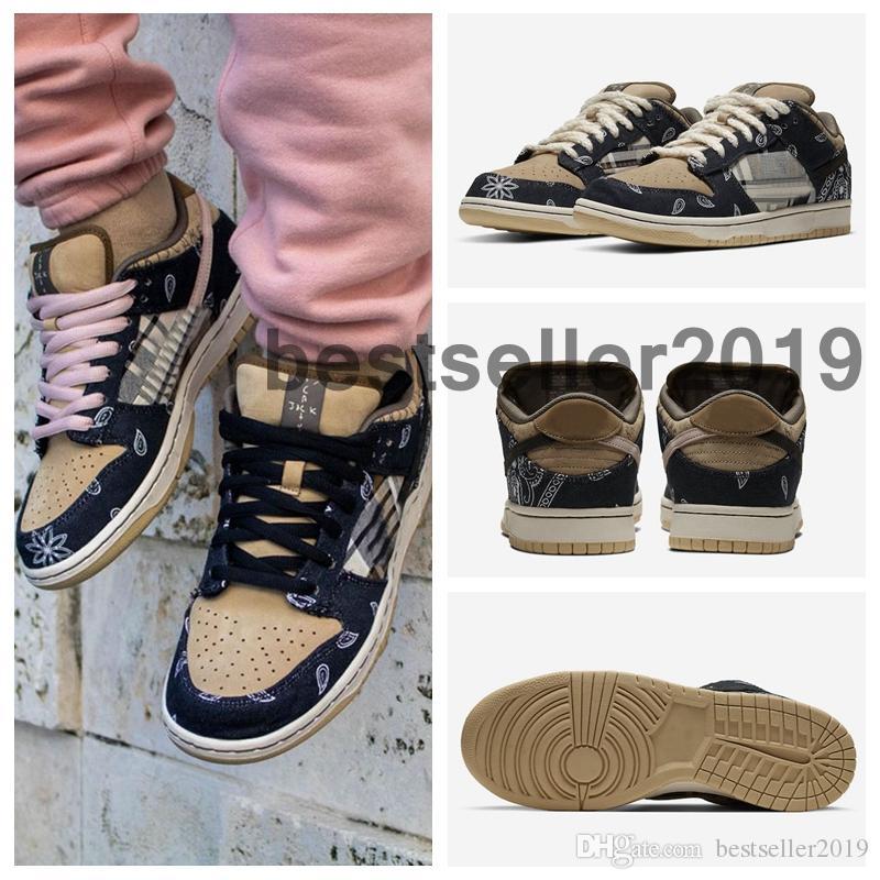 Top qualité Travis x sb dunk bas Skateboard Scotts Dunks Formateurs Chaussures de course Femmes Hommes Cactus Jack Sneakers Casual Zapatos 7339044
