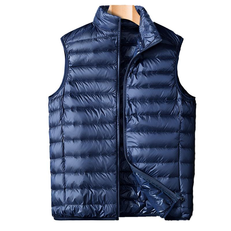Alta calidad 2019 Nueva pato capa de los hombres abajo concede el invierno caliente sin mangas Ultraligero chaleco de los hombres de la chaqueta de Gilet
