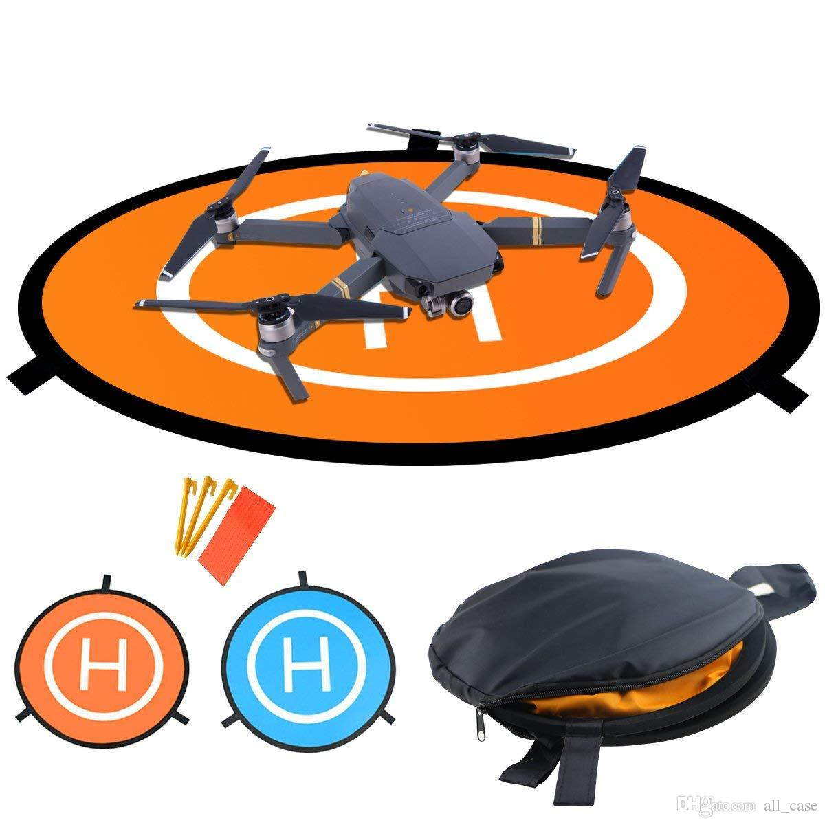 Drones Landing Pad,Universal Waterproof D 75cm/30'' Portable Foldable Landing Pads for RC Drones Helicopter, PVB Drones, DJI, Antel Robotic