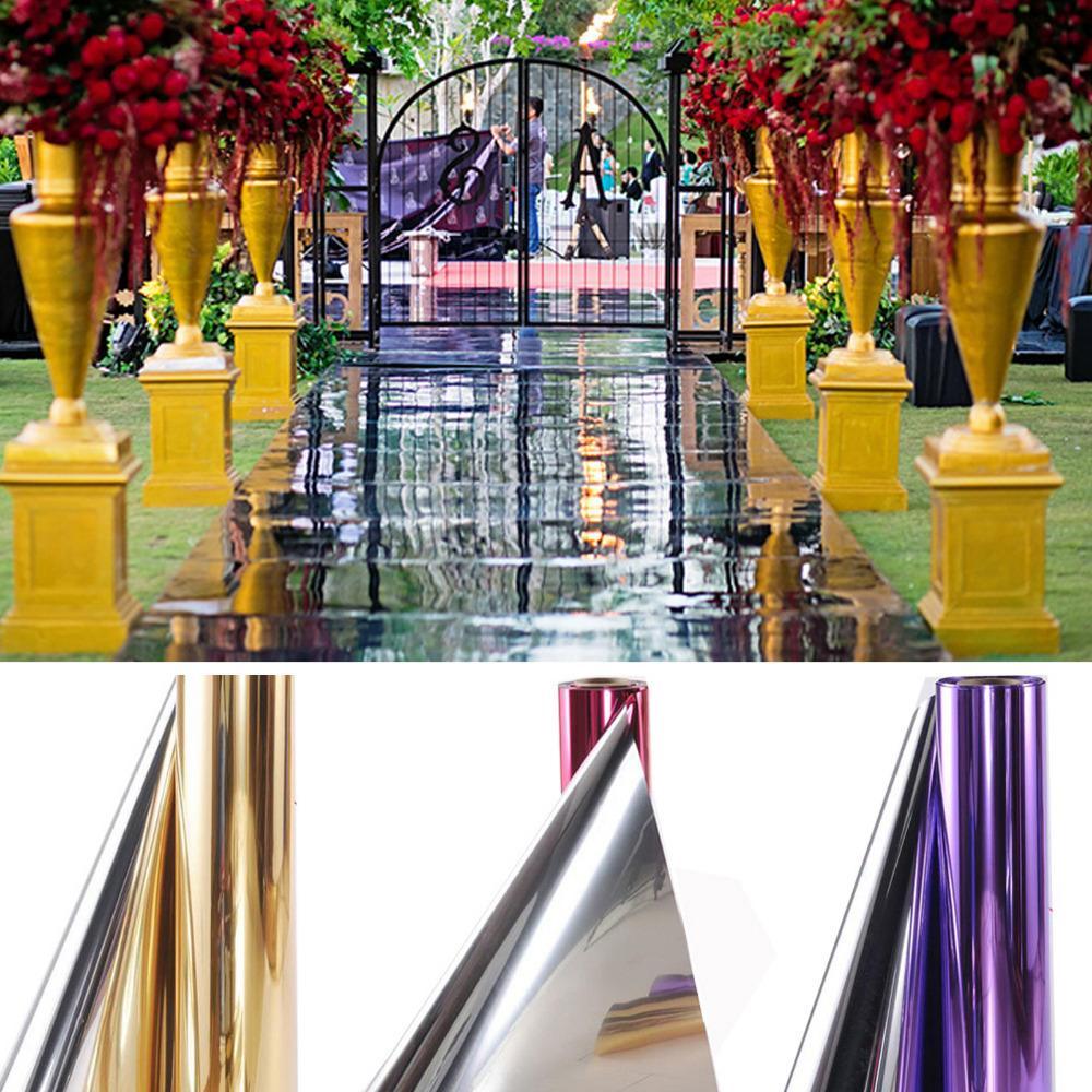 Düğün Dekorasyon için Parlak 1.2M x 20 Metre Ayna halı veya T-aşamalı Koridor Runner