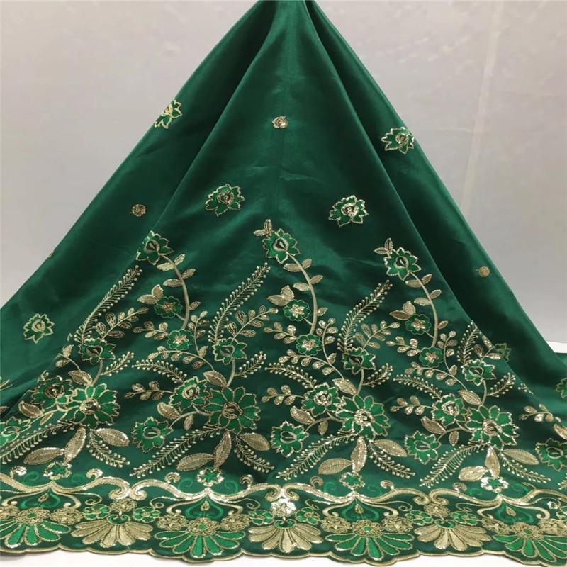 green color Indian Design African George lace fabric 2016/Nigeria wedding dress fabric Purple Gold